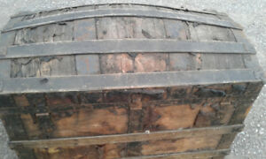 antique coffin trunk