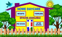Approved Home Daycare - 2 spots available September