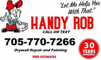 Painting and Plastering Repairs...handyrob.ca