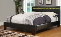 ★★★BOXING DAY SALE GET THIS LEATHER BED WITH MATTRESS ONLY$248