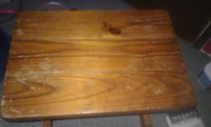 a wooden nightstand