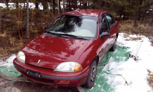 1995 Pontiac Firefly 189,000 kms super gas mileage $995