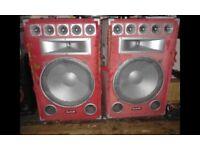 Pair of soundlab 15 inch full range speakers