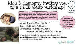 Kids & Company presents a Wee Sleep Seminar for parents