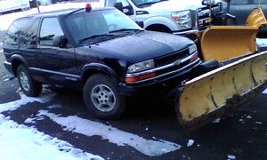 plow truck 1999 Chevrolet Blazer Coupe (2 door)