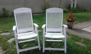 chaises de jardins pliantes