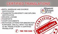 Certified and notarized translations in Edmonton