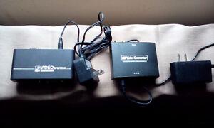 monitor spliter vga to hdmi adapter