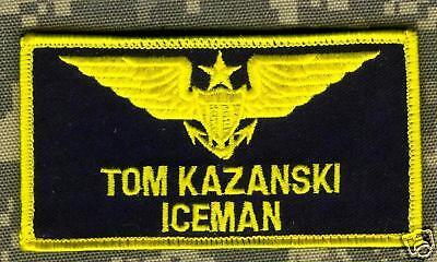 quisite: Film Top Gun Iceman Flieger-Anzug Klett Name Tab (Klettern Halloween-kostüm)