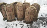 ANTIQUE  FOLK ART 1920S- 30S CARNIVAL KNOCK DOWN CATS