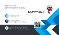 Snowman 911 Snow Removal – Acreages, Driveways, and Parking Lots