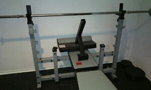 Excercise equipment with weights