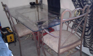 Glass Top Dining Set - must go this weekend