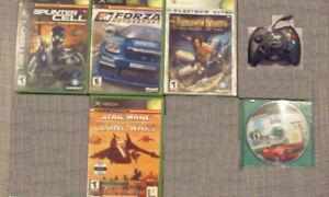 Jeux et manettes XBOX original à vendre ou échanger