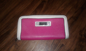 GUESS large zip around wallet