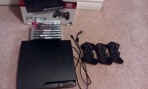 PS3 160GB + 8 games $200 obo