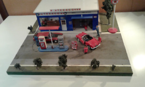 1/24 scale gas/service stations