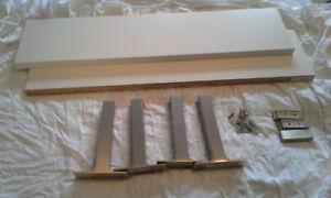 Ikea shelves, brackets and hooks