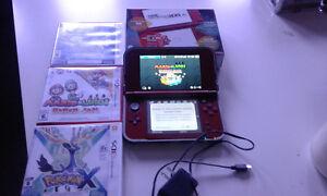 3DS XL, pokemon x,alpha saphire,mario luigi