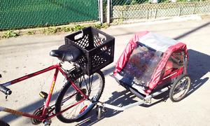 remorque à vélo 2 places enfants.