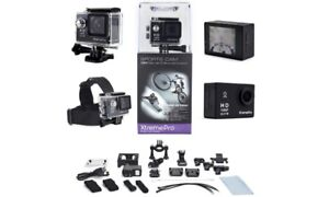 Xtreme Pro HD-108 sports camera with mounts and accessories