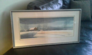 Middleton framed watercolor print
