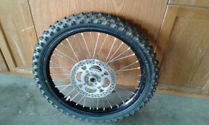 i have two front wheels for a Kdx 220 200