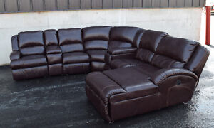 MacGrath Durablend Mahogany 7 piece sectional  couch- Ashley's