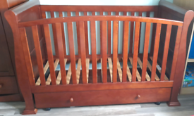 Cotbed and wardrobe from babies R us