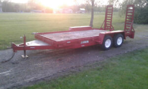 ** 7x16 Equipment Trailer Car Hauler Dual Axle 12,000lb w ramps