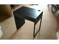 Ikea MICKE desk in black/brown