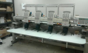 4 head 12 colour SWF embroidery machine for sale