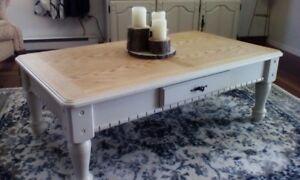Magnifique table de salon basse d appoint rustique