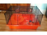 Large hamster cage with accessories - 49x35x29cm