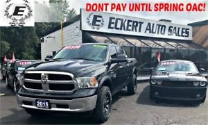 2015 Ram 1500 SLT ECO DIESEL CREW CAB 4X4 WITH CUSTOM WHEELS