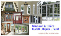 Doors Windows Baseboards & Trims Install Paint