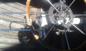 steering wheel and console off 33ft. sail boat