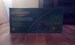 Yardwork Electric Lawn Mower & Extension Cord