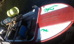 """14"""" boat and Yamaha 40"""