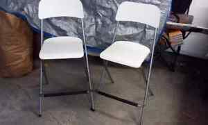 2 IKEA FOLDING BAR STOOLS, CHAIRS