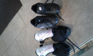 Toddler girl soccer cleats and shin pads