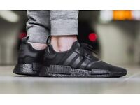 Adidas nmd r1 men's trainer's triple black UK 9 new