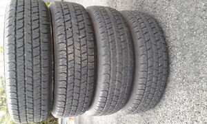 FOUR COOPER ALL SEASON TIRES C/W RIMS FIT TOYOTA ECHO