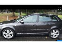 2005 Audi A3 2.0tfsi s line dsg auto paddels leathers bose exceppent condition low millage £2995