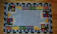 "Kid's ""toy train"" rug. 42.5"" X 27.5"""