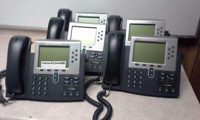 Lot Of 5 Cisco Business Office Voip Unified Ip Phone 7961g Whandset Cp-7961g