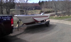 17 ft. boat, motor and trailer