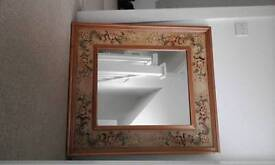 Large hand painted mirror