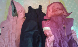 2T Girls Winter Coats and Snowpants