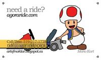 Need a ride in K-W, Cambridge, Guelph?